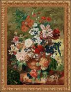 Terracotta Floral Bouquet Tapestry