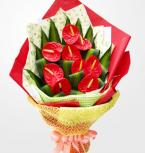 11 Anthurium bouquet for best wishes to Chinese people