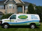a1 sparkles cleaning services van