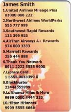 SkivalCard orange Sample
