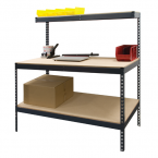 Boltless Workbench with Top & Bottom Shelf