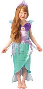 Girls deluxe sequinned mermaid dress with shell character fob