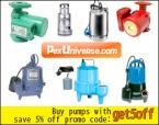 Water pumps supplies for home, garden, basement and pool.