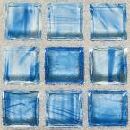 """Classic Glass Tile, Classic Glass Tiles 5/8"""" x 1 1/4"""" Mosaic Clear Skies"""