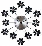 Decorative flower metal clock