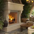 """Fmi Fireplaces JM50 Portofino 50"""" Mosaic Masonry Indoor / Outdoor Woodburning Fireplace"""