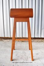 Contemporary bar stool in handgraded reclaimed solid teak.