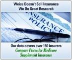 Compare Medicare supplement insurance (Medigap) premiums for over 150 insurers at WeissRatings.com/medigap
