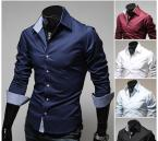 This shirt has a trendy design in an intense blue. Its designed reaches a new elegance