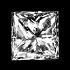 1.00 carat princess cut diamond shape