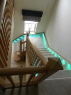 Staircase with LED lighting