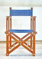 Classic all weather folding chair in handgraded reclaimed solid teak and waterproof canvas upholstery.