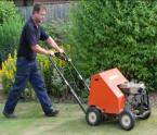 Aerating a lawn!