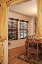 "2"" Wood Blinds With Decorative Tape. 3 1/2"" Valance"