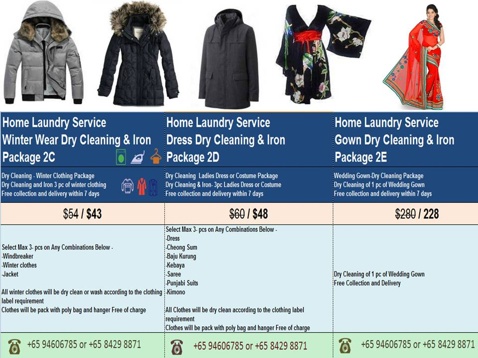 824191b374 Dry Cleaning Service for winter jackets